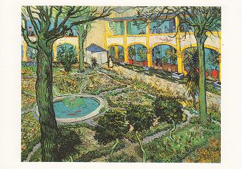Kunstpostkarte Schwertlilien Iris Vincent van Gogh